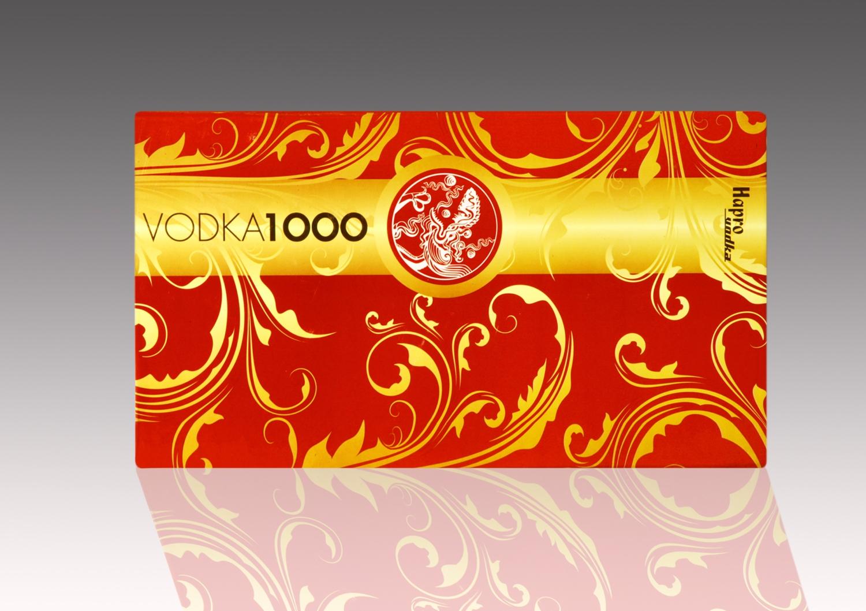 Sản phẩm Vodka 1000 màu đỏ của Hapro